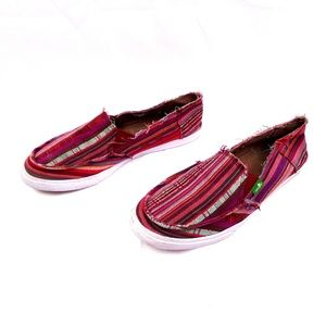 Sanuk Multi-color Striped Loafer size 7